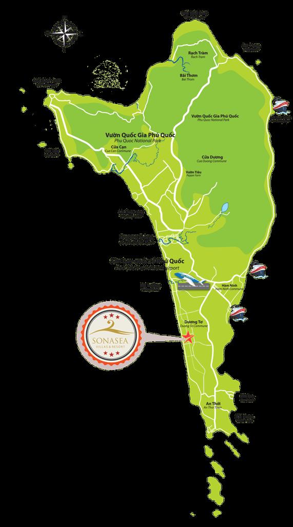 Vị trí Dự án Khu tổ hợp Sonasea Villlas & Resort