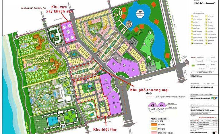 Sơ đồ tổng thể Dự án Sonasea Villas & Resort