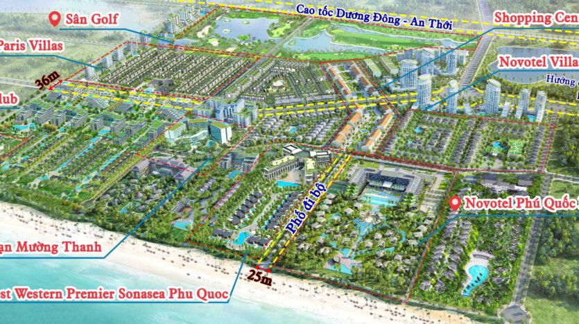 Mặt bằng tổng thế dự án Sonasea Villas & Resort Phú Quốc
