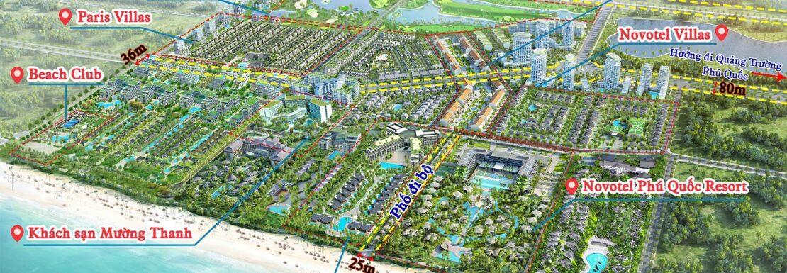 Phối cảnh mặt bằng tổng thể Khu tổ hợp Sonasea Villlas & Resort Phú Quốc