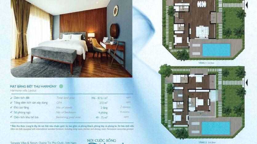 Mặt bằng biệt thự nghỉ dưỡng Novotel Villas – Harmony