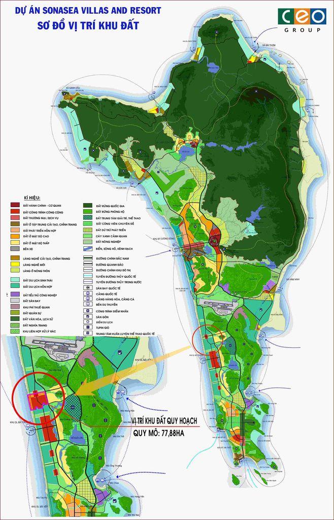 Sơ đồ vị trí Dự án Sonasea Villas & Resorts
