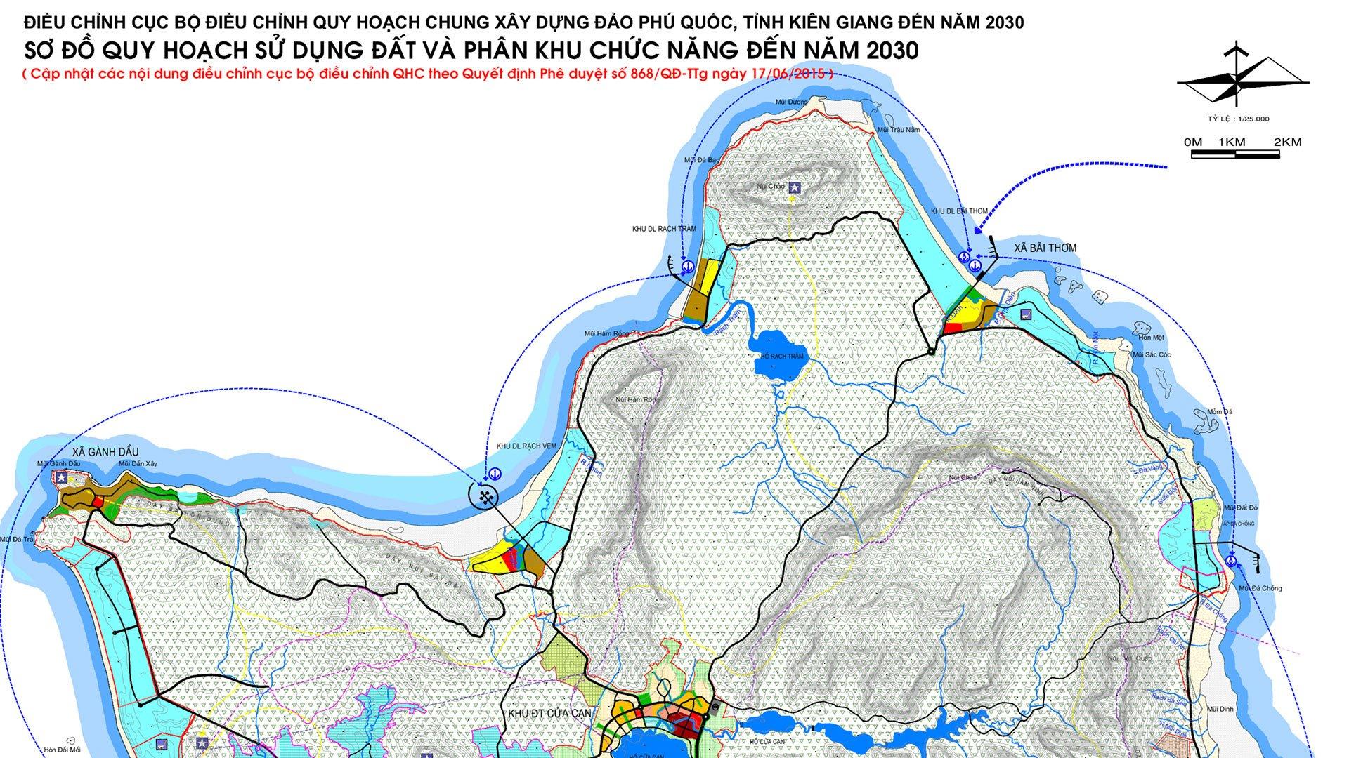 Bản đồ Quy hoạch 868 Phú Quốc - Tỷ lệ 1/25.000