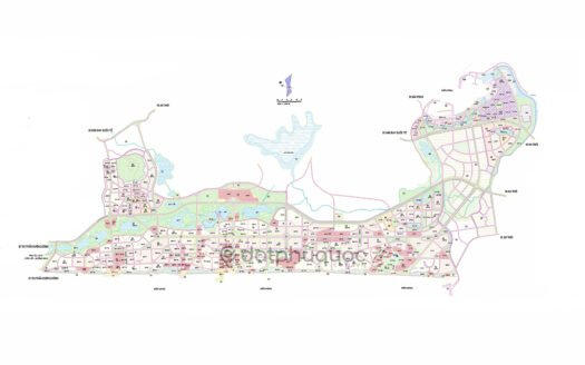 Bản đồ Quy hoạch KDL – DC Bắc và Nam Bãi Trường