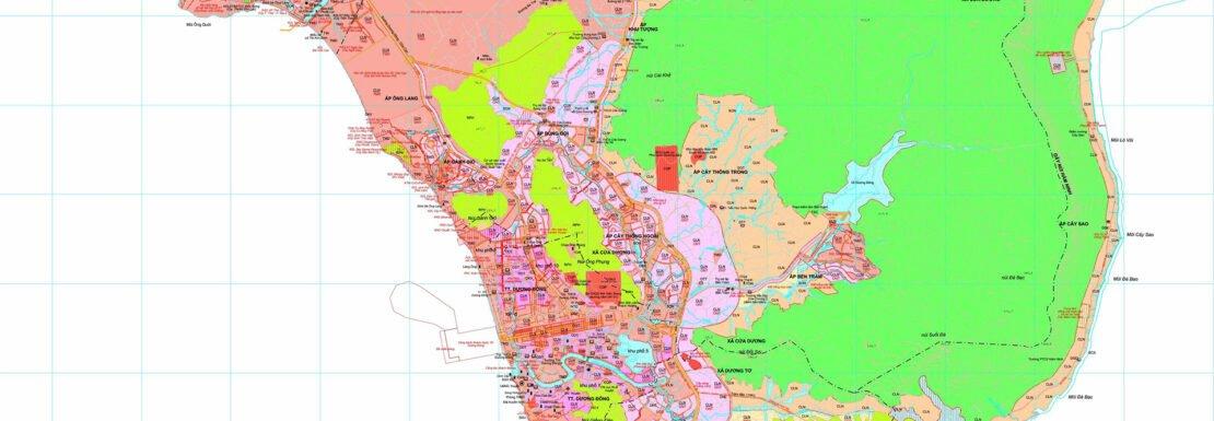 Bản đồ Quy hoạch sử dụng đất Huyện Phú Quốc năm 2020