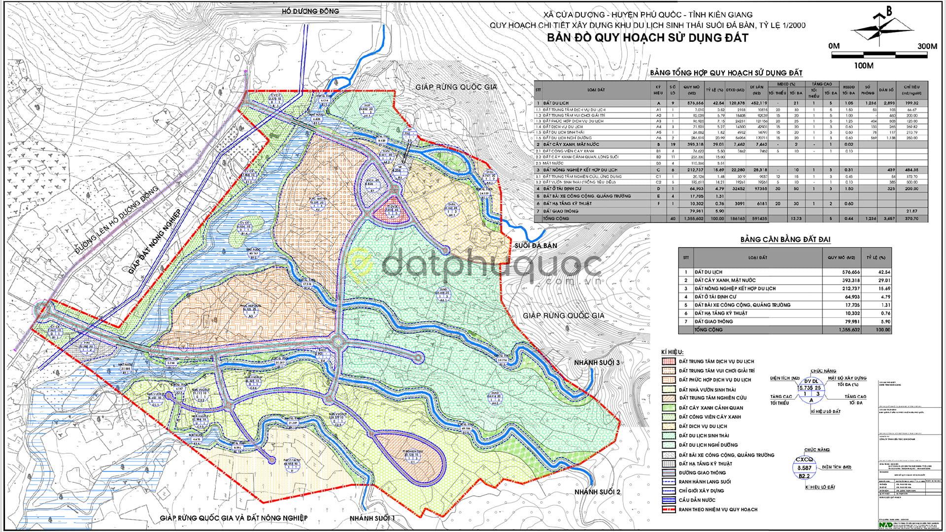 Bản đồ quy hoạch sử dụng đất Khu Du Lịch Suối Đá Bàn