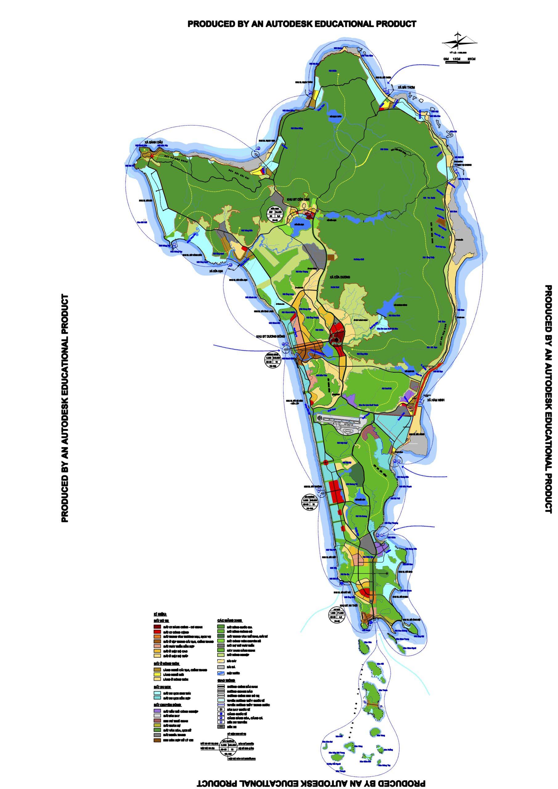Bản đồ Quy hoạch sử dụng đất theo 633 đảo Phú Quốc
